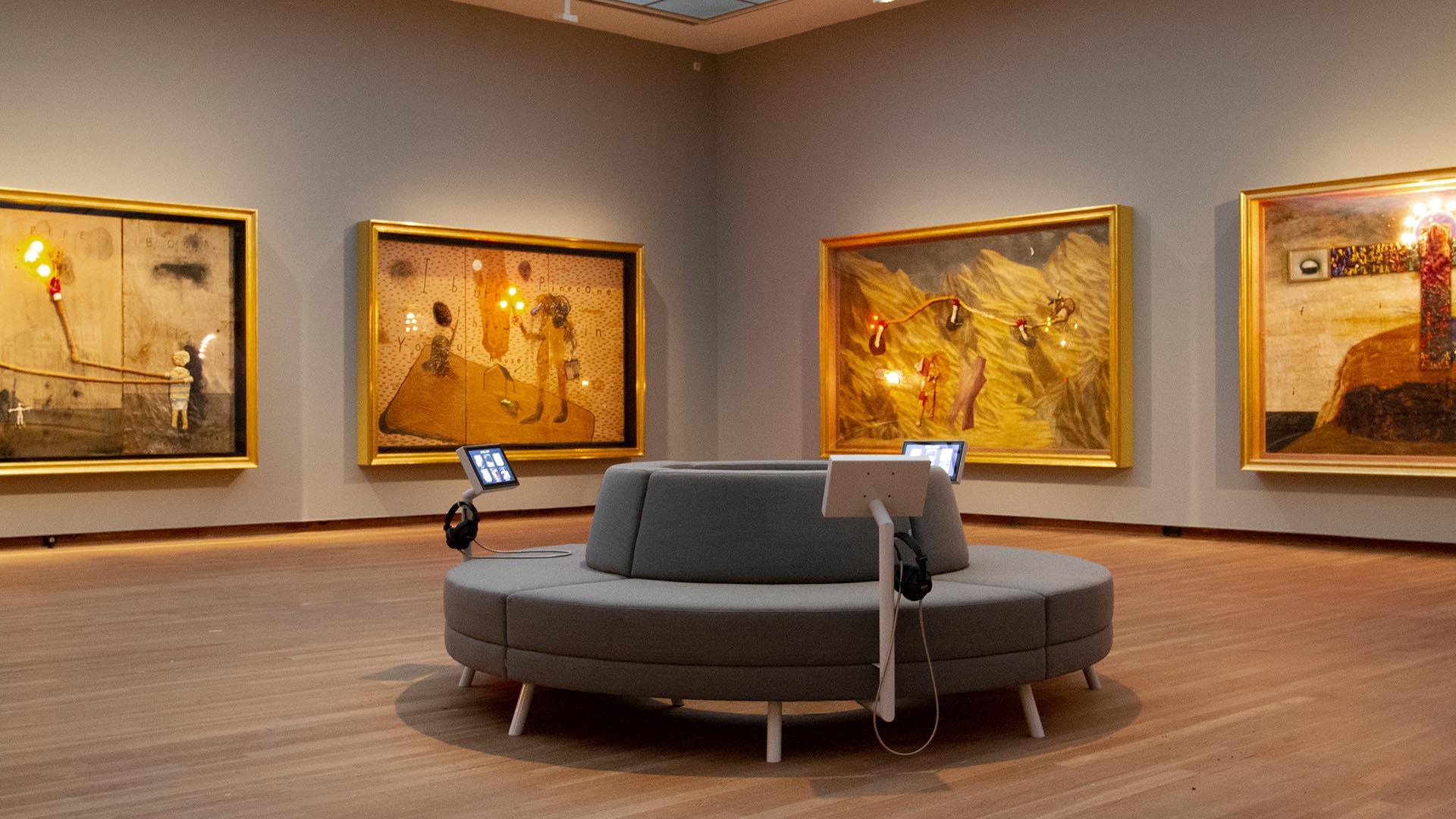 Interactieve zitmeubel David Lynch Bonnefantenmuseum tentoonstelling interactief