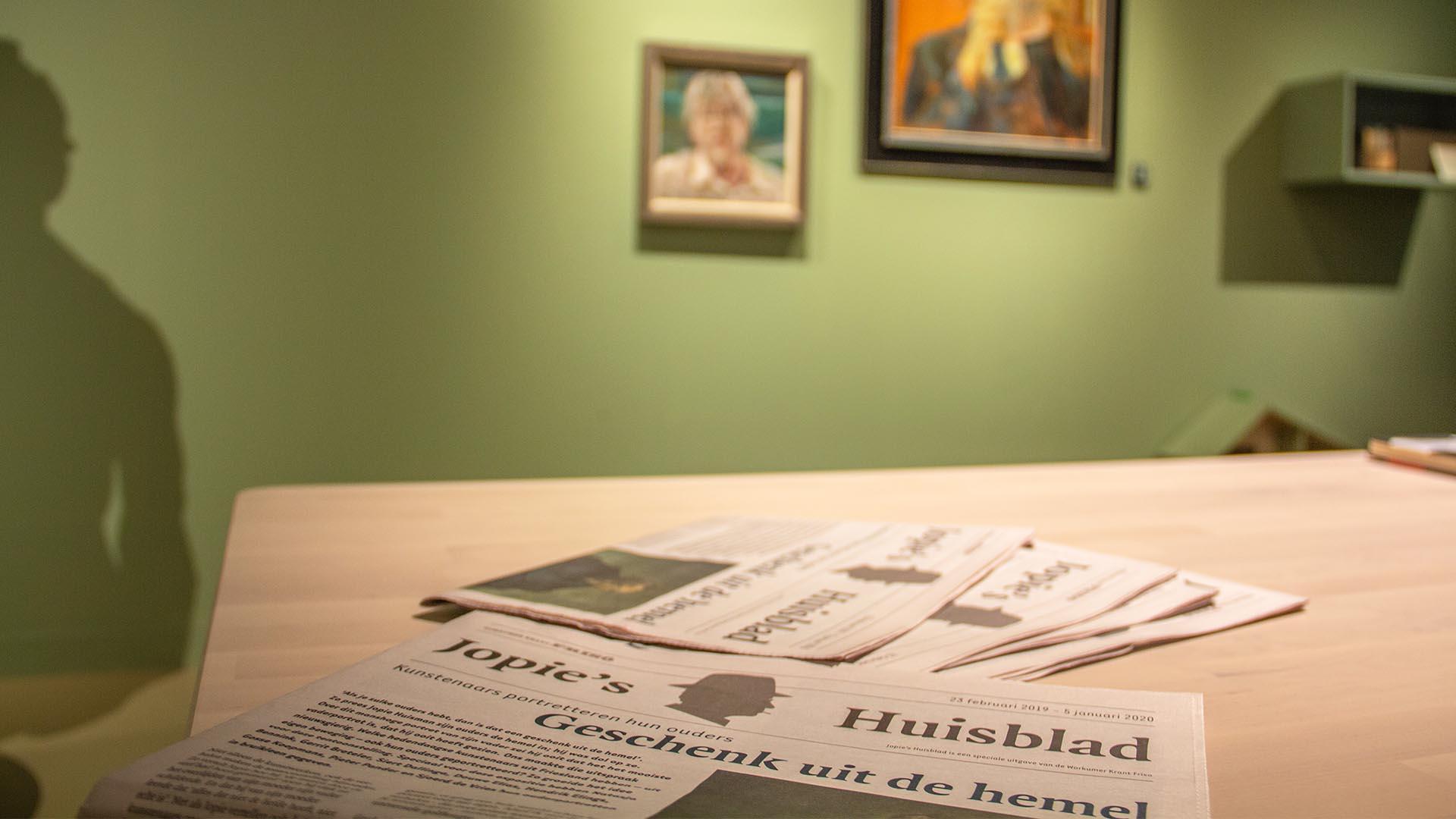 Krant tentoonstelling Geschenk uit de hemel